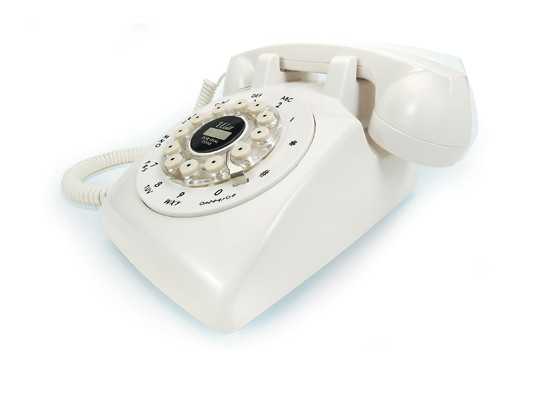 Dreyfuss 500 Desk Phone from Wild and Wolf - White