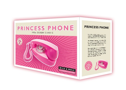 Henry Dreyfuss 1950's Princess Phone - Electric Pink