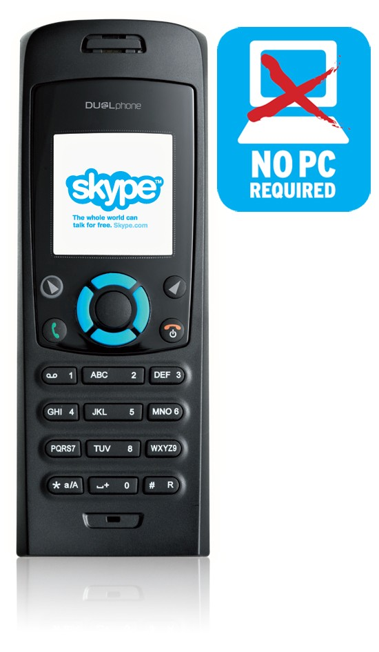 RTX DUALphone 3088 Twin - Combined land line and skype cordless phone
