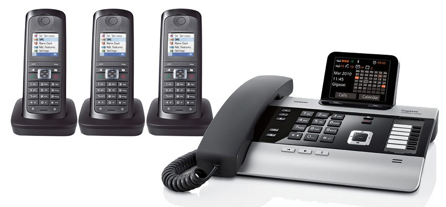 Gigaset DX800A All In One Telephone and Triple E49H Additional Handset