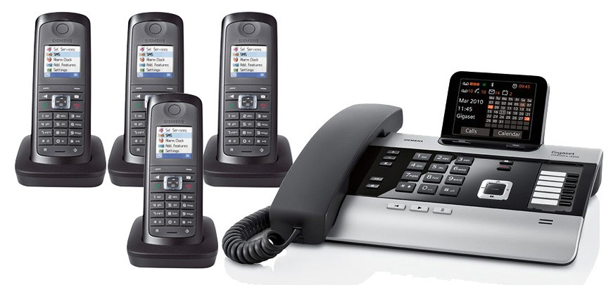 Gigaset DX800A All In One Telephone and Quad E49H Additional Handset