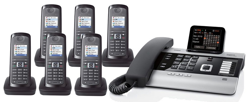 Gigaset DX800A All In One Telephone and Sextet E49H Additional Handsets