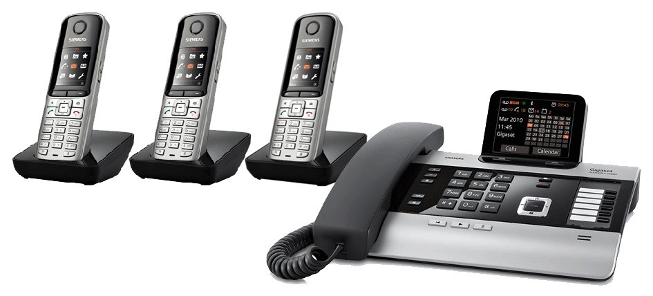 Gigaset DX800A All In One Telephone With Triple S79 Additional Handsets