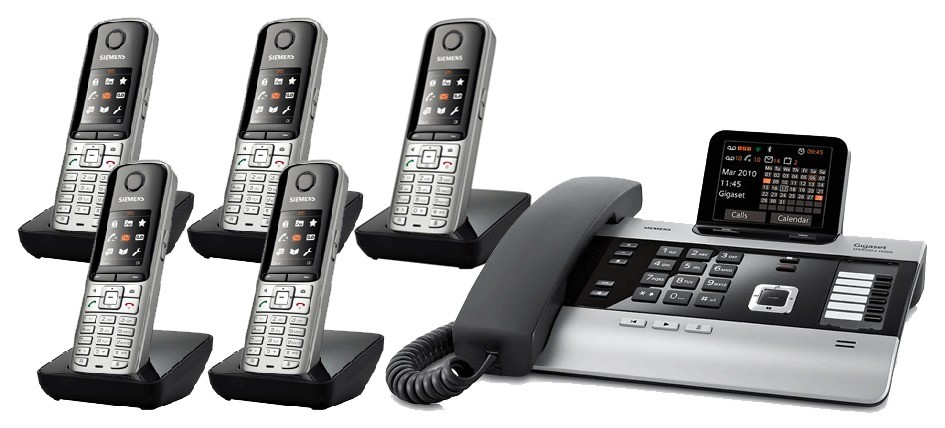 Gigaset DX800A All In One Telephone With Quint S79 Additional Handsets