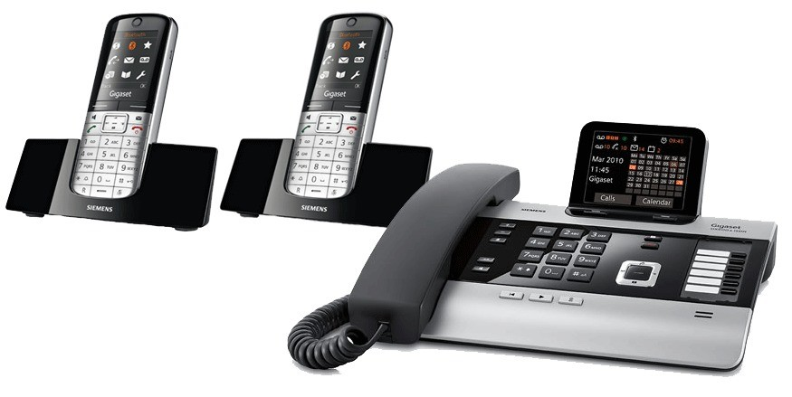 Gigaset DX800A All In One Telephone and Twin SL400H Additional Handsets