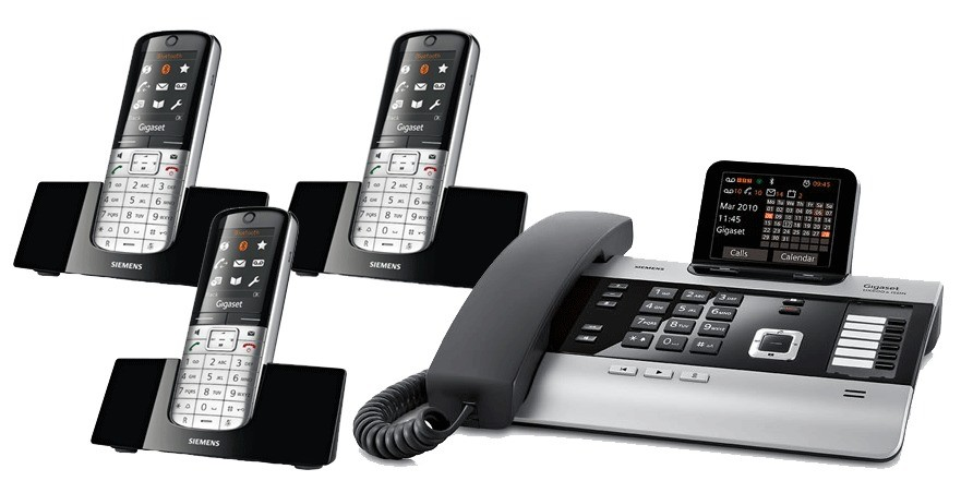 Gigaset DX800A All In One Telephone and Triple SL400H Additional Handsets