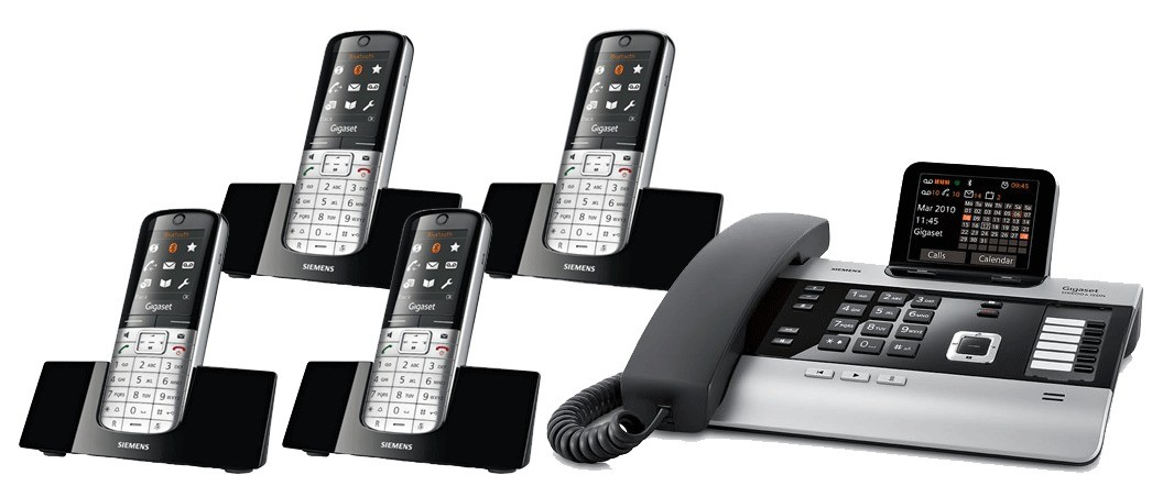 Gigaset DX800A All In One Telephone and Quad SL400H Additional Handsets