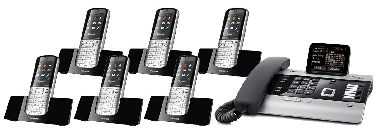 Gigaset DX800A All In One Telephone and Sextet SL400H Additional Handsets