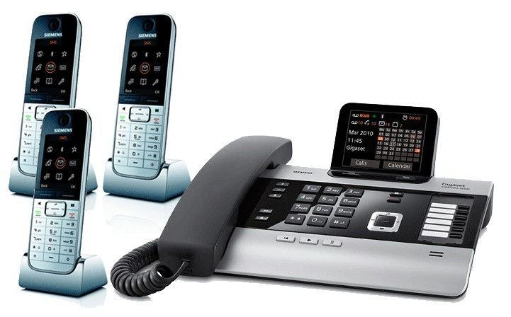 Gigaset DX800A All In One Telephone With Triple SL78H Additional Handsets