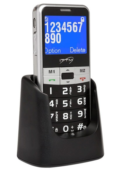 Easy Lux Sim Free Cordless Phone - Black and Silver