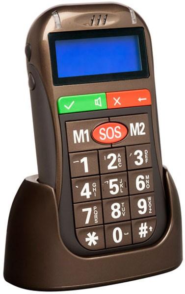 Easy Pocket Sim Free Mobile Phone - Brown