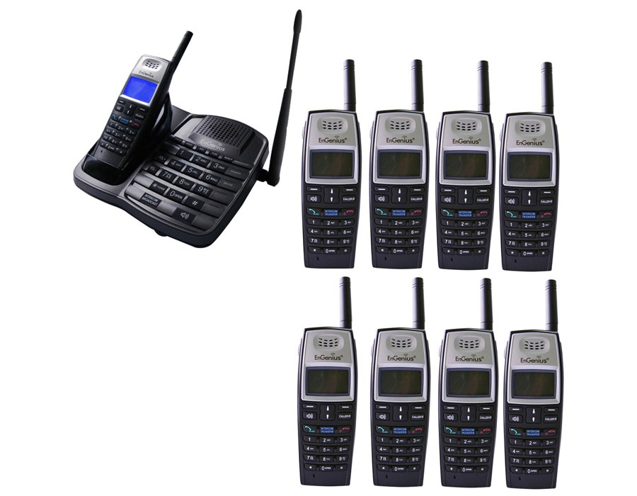 Engenius EP801 Extreme Range Cordless Phones - Nontuple Pack (9 Handsets)