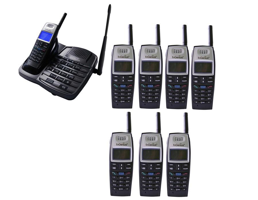 Engenius EP801 Extreme Range Cordless Phone - Octuple Pack