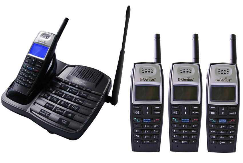 Engenius EP801 Extreme Range Cordless Phone - Quad Pack