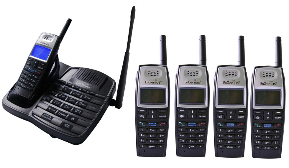 Engenius EP801 Extreme Range Cordless Phone - Quint Pack