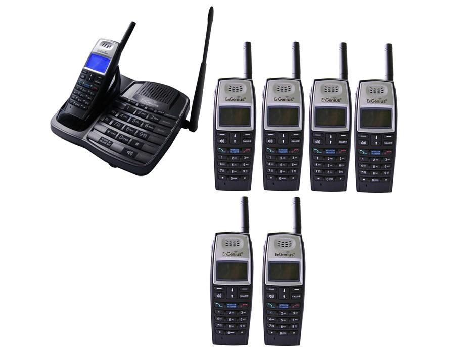 Engenius EP801 Extreme Range Cordless Phone - Septuple Pack