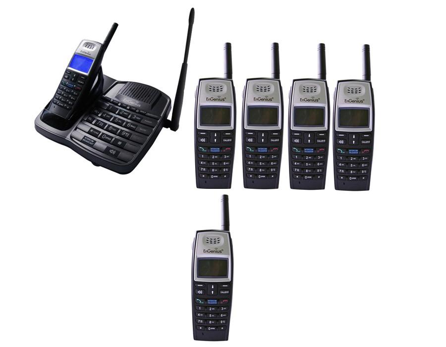 Engenius EP801 Extreme Range Cordless Phone - Sextet