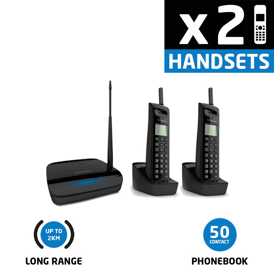 EnGenius EP802 Extreme Long Range Twin Cordless Phone2