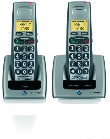 BT Freestyle 710 Cordless Telephone - Twin Pack