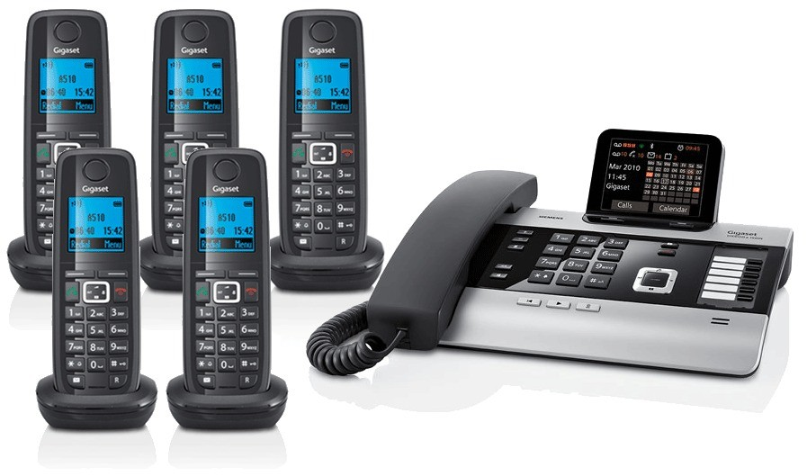 Gigaset DX800A All In One Telephone and Quint A510H Additional Handsets