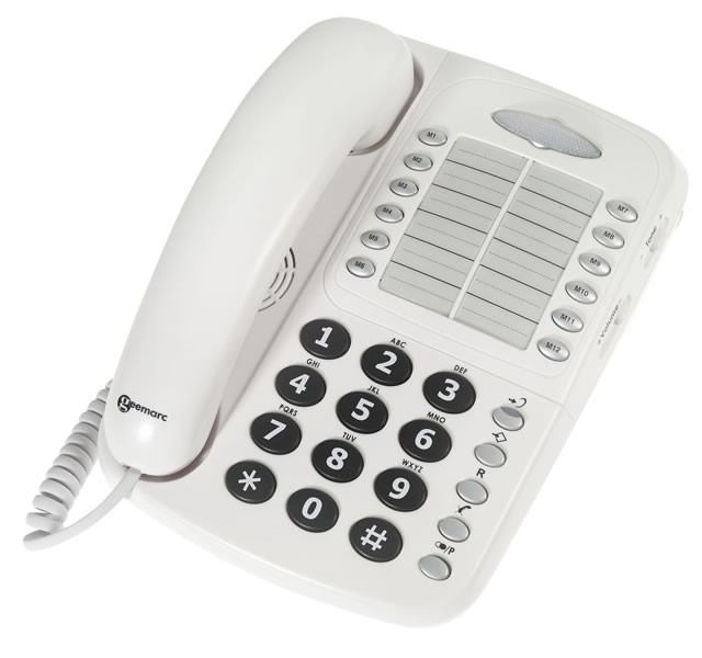 Geemarc CL1100 Amplified Telephone - White