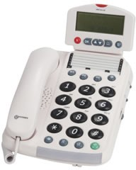 Geemarc Dallas 30 Big Button Telephone (White)
