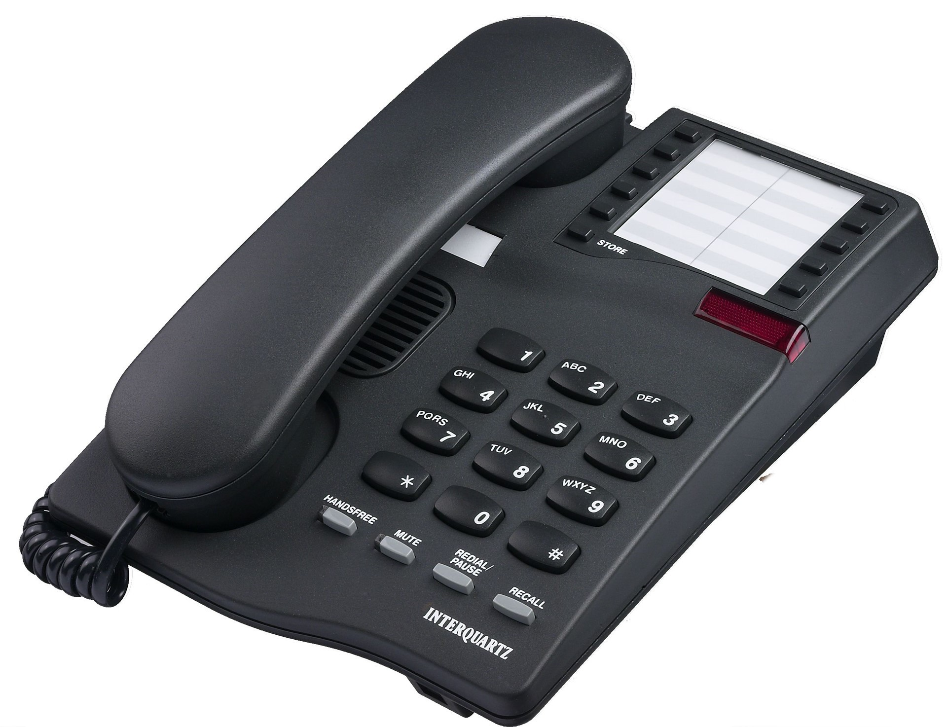 Interquartz Gemini Speakerphone 9333 Business Phone - Black