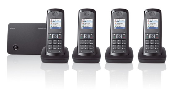 Siemens Gigaset E495 Ruggedised Cordless Phone with Answering Machine - Quad Pack