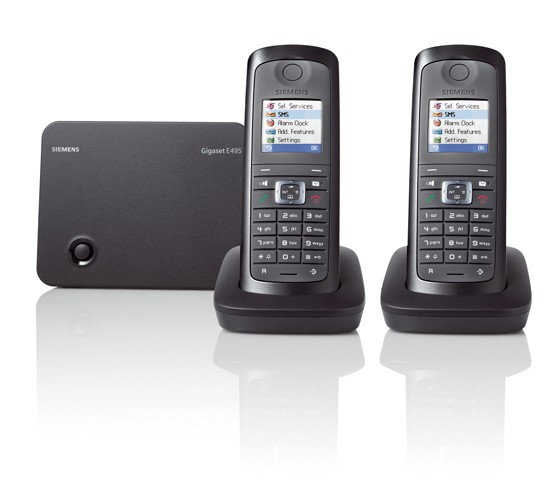 Siemens Gigaset E495 Ruggedised Cordless Phone with Answering Machine - Twin Pack