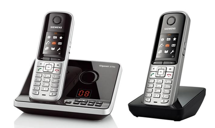 Gigaset S810A DECT Cordless Phone With Answering Machine & Bluetooth - Twin Pack