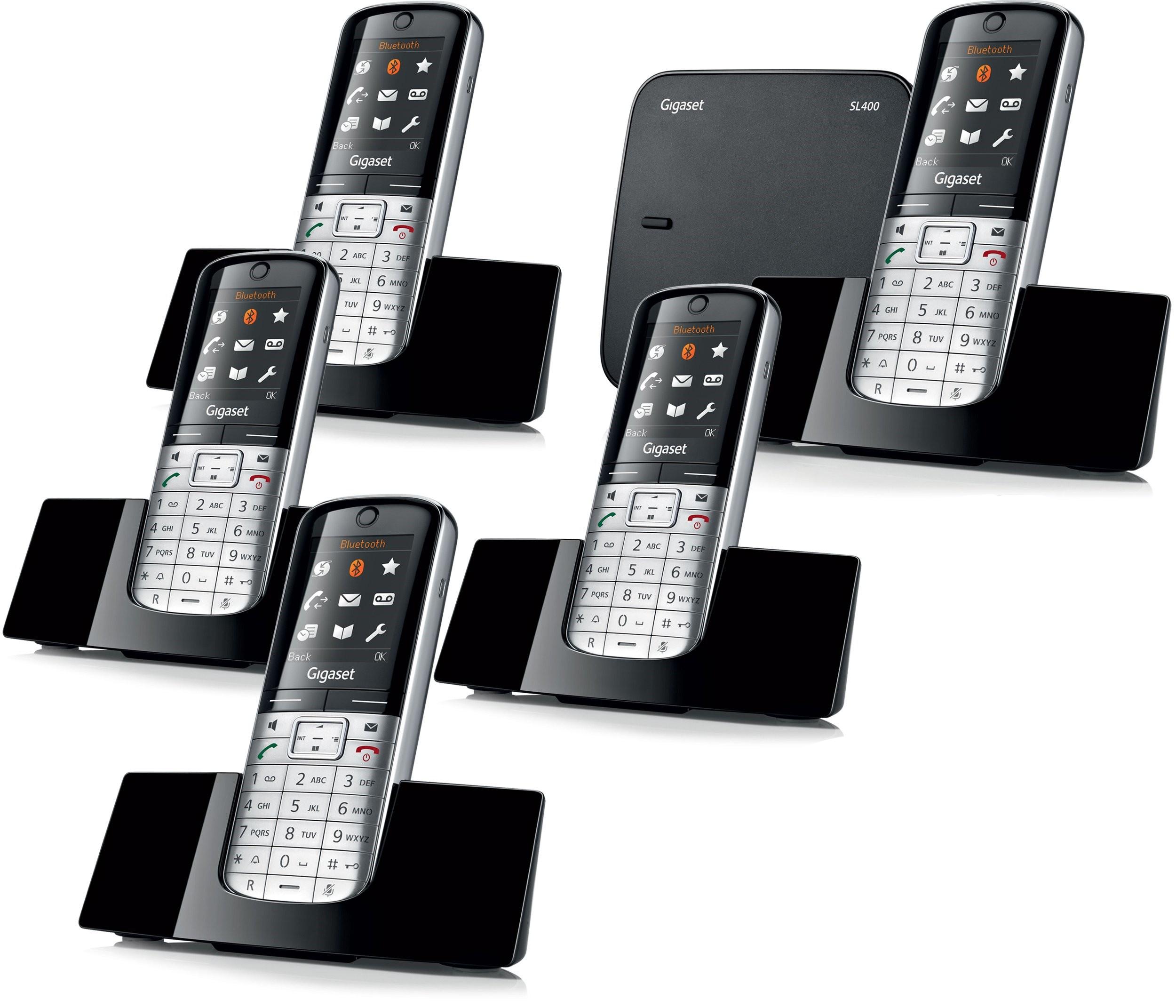 Siemens Gigaset SL400A Bluetooth Cordless Phone - Quint Pack