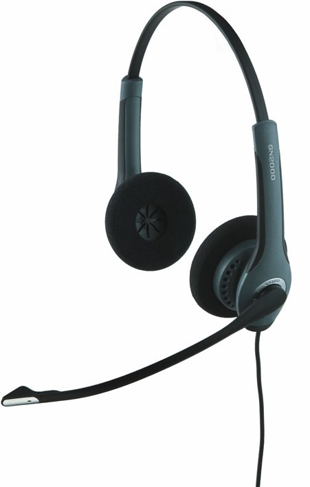 Jabra GN2000 Duo Flex Boom Noise Cancelling Office Headset - A Grade