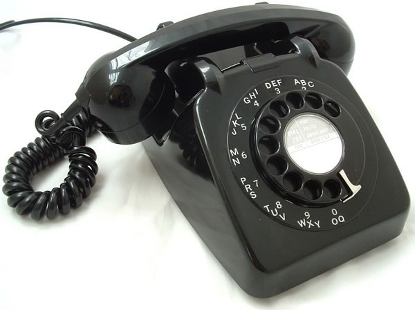 Original GPO 746 Rotary Dial 1970's Telephone - Traditional Black