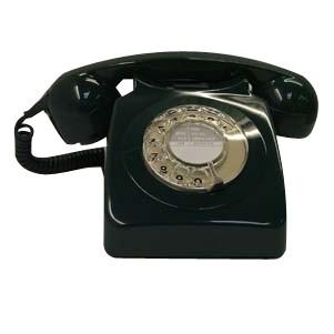 Original GPO 746 Rotary Dial 1970's Telephone - Classic Black