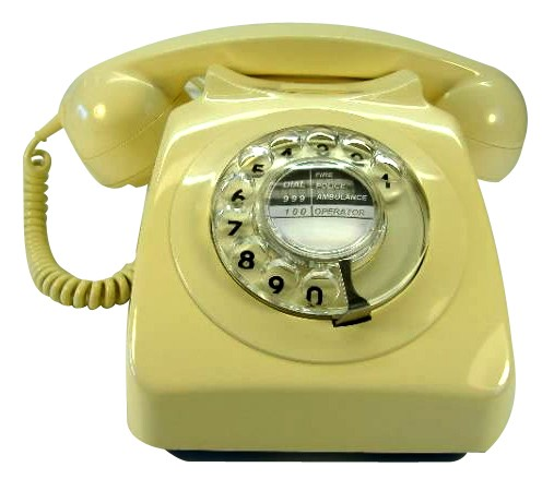 Original GPO 746 Rotary Dial 1970's Telephone - Classic Ivory