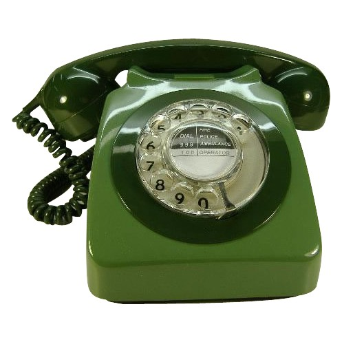 Original GPO 746 Rotary Dial 1970's Telephone - Classic Two Tone Green