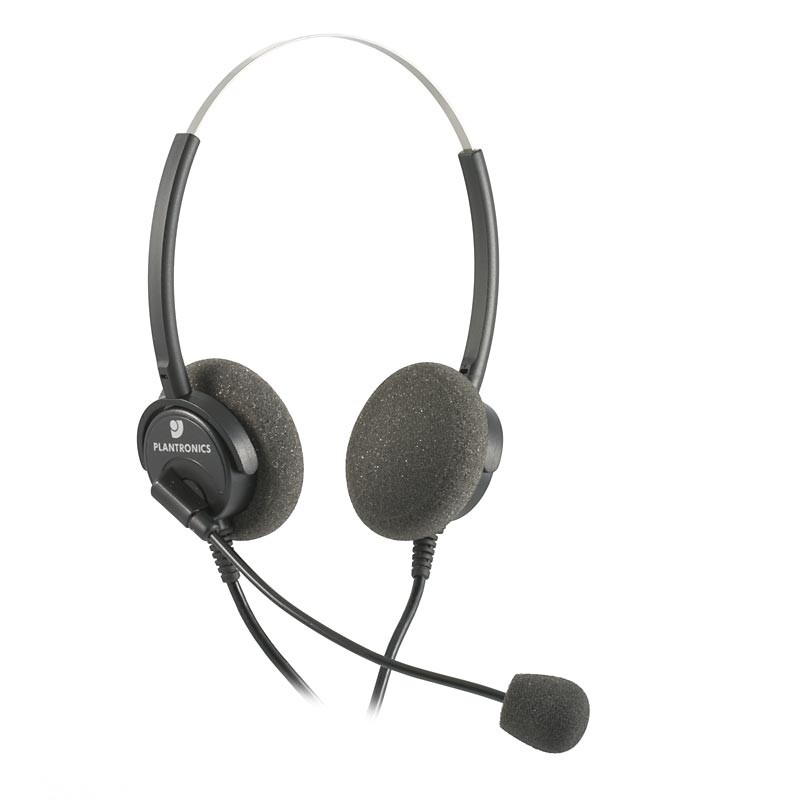 Plantronics H61N Supra Binaural Noise Cancelling Office Headset - A Grade
