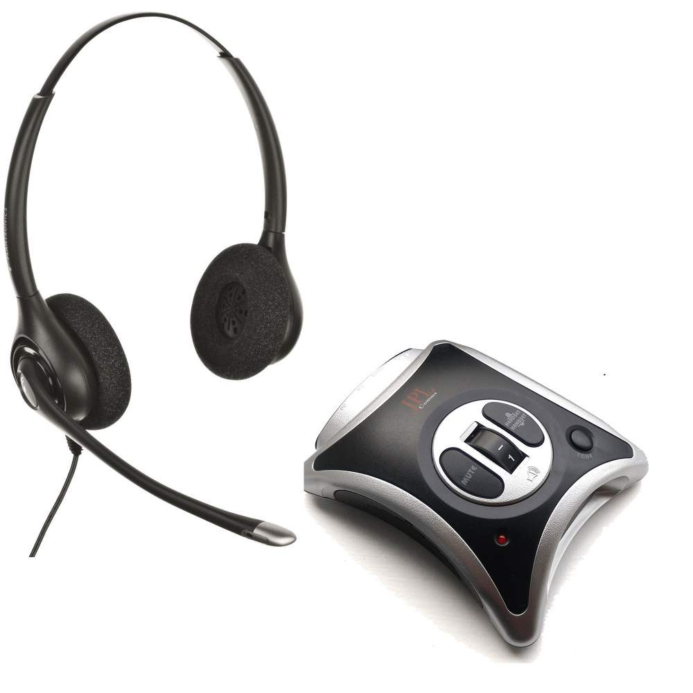 JPL JRC11 Telephone Amplifier + Plantronics HW261N Supraplus Wideband Binaural Noise Cancelling Headset A-Grade