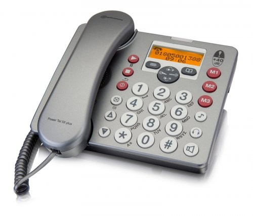 Amplicomms Powertel 58 Plus Desk Phone with Answer Machine