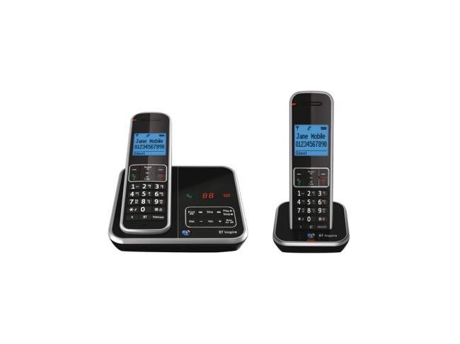 BT Inspire 1500 DECT Cordless Phone With Answering Machine - Twin Pack
