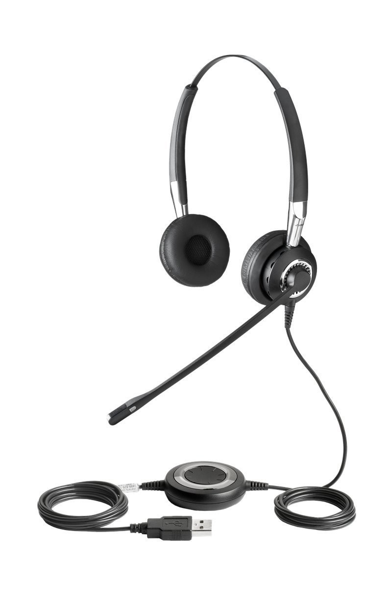 Jabra Biz 2400 USB Duo Wideband Noise Cancelling Headset