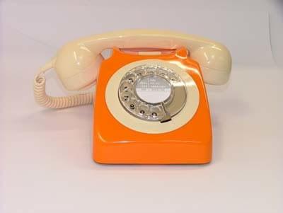 Original GPO 746 Rotary Dial 1970's Telephone - Burnt Orange & Ivory