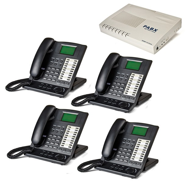 Orchid KS416 4 Line Telephone System and 4 x KP416 Key Telephones