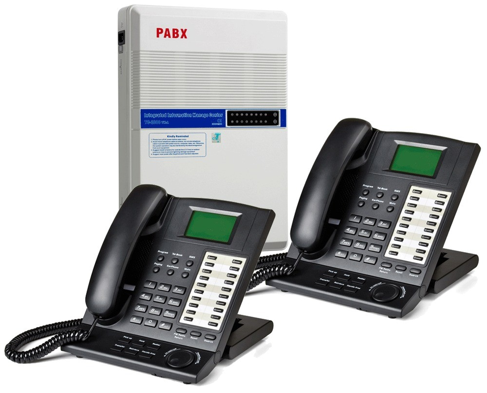 Orchid KS832 Analogue PABX Multi Line Phone System and 2 x KP416 System Handsets
