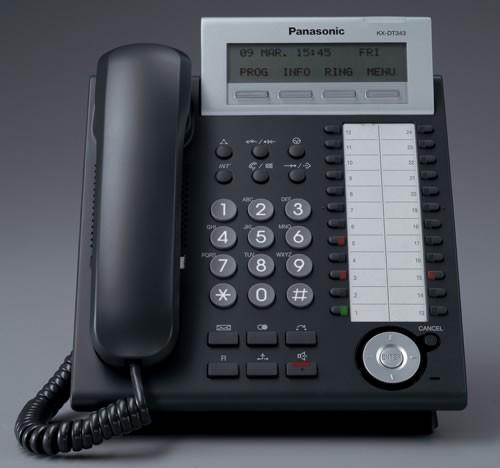 Panasonic KX-DT343 Digital Handset Black