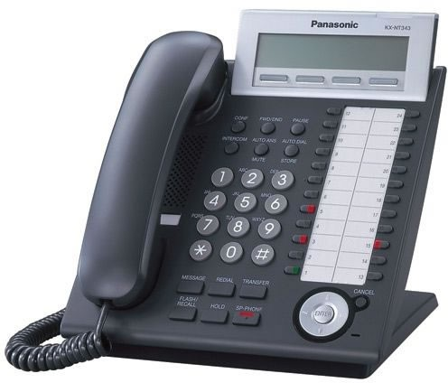 Panasonic KX-NT343 IP System Phone - Black