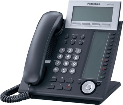 Panasonic KX-NT366 IP System Phone - Black