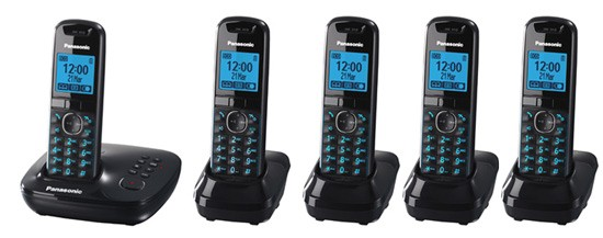 Panasonic KX-TG5525 Cordless Phone - Quint Pack