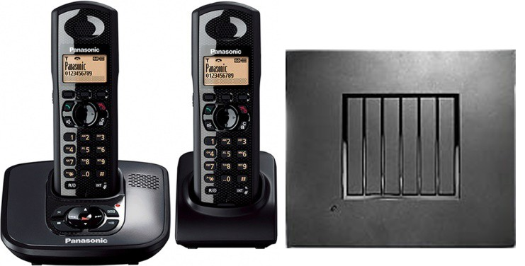 Panasonic KX-TG6482 Robust DECT Twin Phone and RTX4002 Repeater Bundle