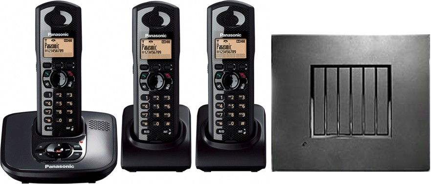 Panasonic KX-TG6483 Robust DECT Triple Phone and RTX4002 Repeater Bundle